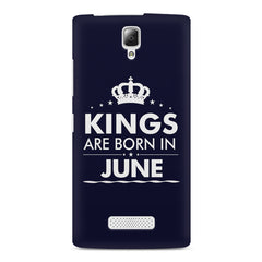 Kings are born in June design    Lenovo A2010 hard plastic printed back cover