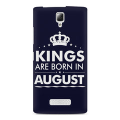 Kings are born in August design    Lenovo A2010 hard plastic printed back cover