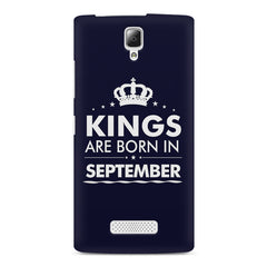 Kings are born in September design    Lenovo A2010 hard plastic printed back cover