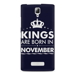 Kings are born in November design    Lenovo A2010 hard plastic printed back cover