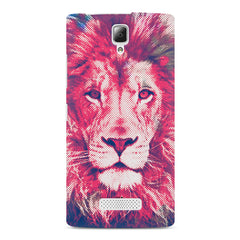 Zoomed pixel look of Lion design Lenovo A2010 hard plastic printed back cover
