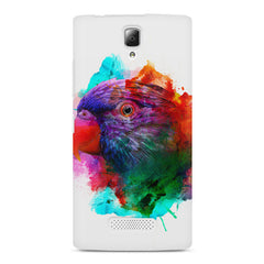 Colourful parrot design Lenovo A2010 hard plastic printed back cover