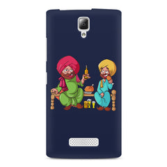 Punjabi sardars with chicken and beer avatar Lenovo A2010 hard plastic printed back cover