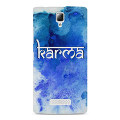 Karma Lenovo A2010 hard plastic printed back cover