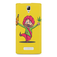 Sardar dancing with Beer and Marijuana  Lenovo A2010 hard plastic printed back cover