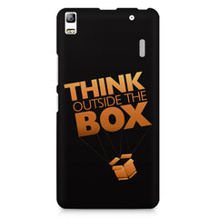 Think Outside The Box- Entrepreneur Lines design,  Lenovo K3 Note/A7000 printed back cover