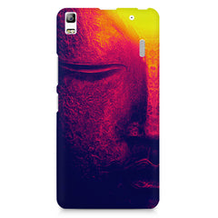 Half red face sculpture  Lenovo K3 Note/A7000 printed back cover