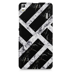 Black & white rectangular bars  Lenovo K3 Note/A7000 printed back cover
