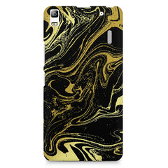 Golden black marble design Lenovo K3 Note/A7000 printed back cover