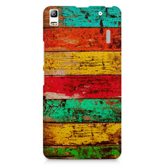 Strips of old painted woods  Lenovo K3 Note/A7000 printed back cover