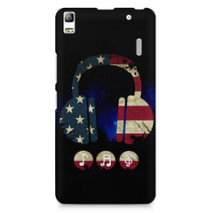 America tunes Blue sprayed  Lenovo K3 Note/A7000 printed back cover