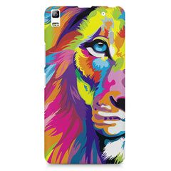 Colourfully Painted Lion design,  Lenovo K3 Note/A7000 printed back cover