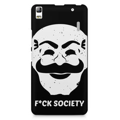 Fuck society design Lenovo K3 Note/A7000 printed back cover