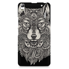Fox illustration design Lenovo K3 Note/A7000 printed back cover