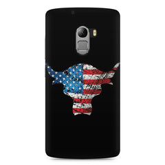 The Rock with flag colors Lenovo K4 Note printed back cover