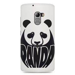 White Panda  design,  Lenovo K4 Note printed back cover