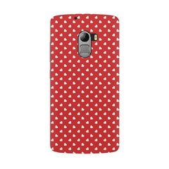 Cute hearts all over the cover design hard plastic printed back cover/case Lenovo K4 Note hard plastic all side printed back cover.