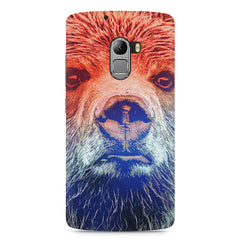 Zoomed Bear Design  Lenovo A7010 hard plastic printed back cover