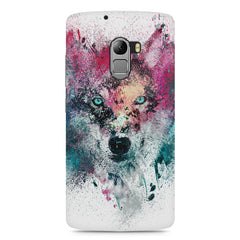 Splashed colours Wolf Design Lenovo A7010 hard plastic printed back cover