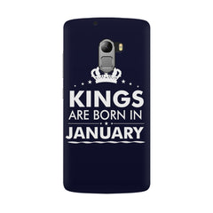 Kings are born in January design all side printed hard back cover by Motivate box Lenovo K4 Note hard plastic all side printed back cover.