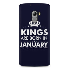 Kings are born in January design    Lenovo A7010 hard plastic printed back cover