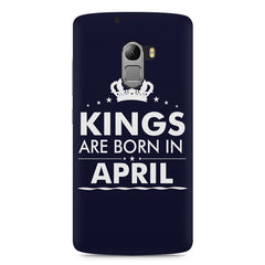 Kings are born in April design    Lenovo A7010 hard plastic printed back cover