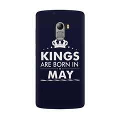 Kings are born in May design all side printed hard back cover by Motivate box Lenovo K4 Note hard plastic all side printed back cover.