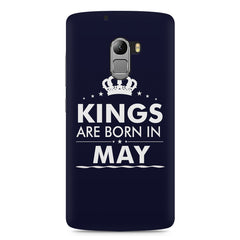 Kings are born in May design    Lenovo A7010 hard plastic printed back cover
