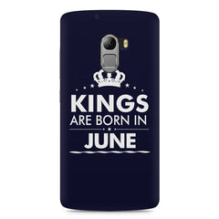 Kings are born in June design    Lenovo A7010 hard plastic printed back cover