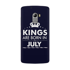 Kings are born in July design all side printed hard back cover by Motivate box Lenovo K4 Note hard plastic all side printed back cover.