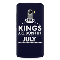 Kings are born in July design    Lenovo A7010 hard plastic printed back cover
