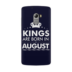 Kings are born in August design all side printed hard back cover by Motivate box Lenovo K4 Note hard plastic all side printed back cover.