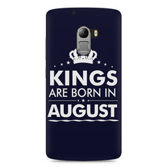 Kings are born in August design    Lenovo A7010 hard plastic printed back cover