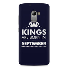 Kings are born in September design    Lenovo A7010 hard plastic printed back cover