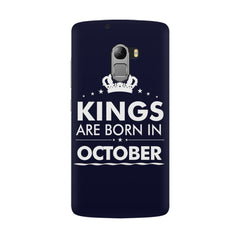 Kings are born in October design all side printed hard back cover by Motivate box Lenovo K4 Note hard plastic all side printed back cover.