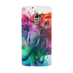 colourful portrait of Elephant Lenovo K4 Note hard plastic all side printed back cover.