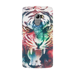 Tiger with a ferocious look Lenovo K4 Note hard plastic all side printed back cover.