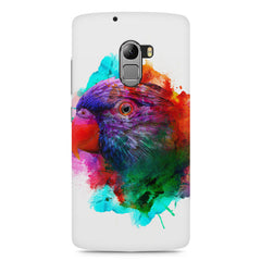 Colourful parrot design Lenovo A7010 hard plastic printed back cover
