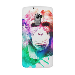 Colourful Monkey portrait Lenovo K4 Note hard plastic all side printed back cover.