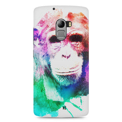 Colourful Monkey portrait Lenovo A7010 hard plastic printed back cover