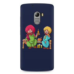 Punjabi sardars with chicken and beer avatar Lenovo A7010 hard plastic printed back cover