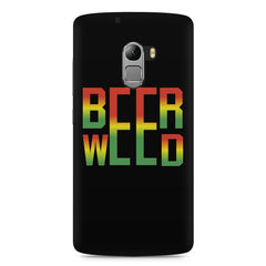 Beer Weed Lenovo A7010 hard plastic printed back cover