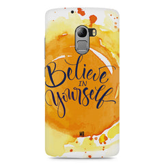 Believe in Yourself Lenovo A7010 hard plastic printed back cover