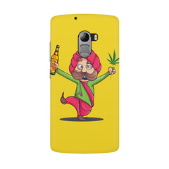 Sardar dancing with Beer and Marijuana  Lenovo K4 Note hard plastic all side printed back cover.