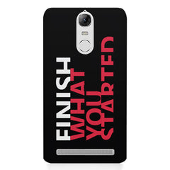 Finish What You Started - Quotes With Determination design,  Lenovo K5 note printed back cover