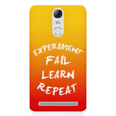 Experiment Fail Learn Repeat - Entrepreneur Quotes design,  Lenovo K5 note printed back cover