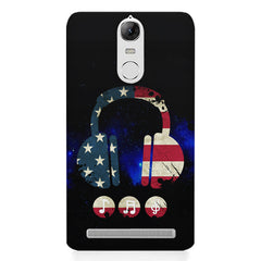 America tunes Blue sprayed  Lenovo K5 note printed back cover
