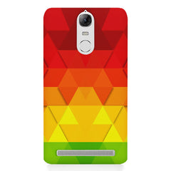 Colourful texture pattern Lenovo K5 note printed back cover