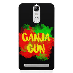 Ganja Gun being high Lenovo K5 note printed back cover