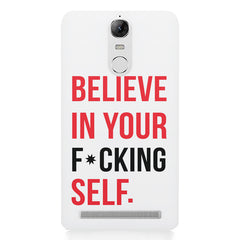 Believe in your Self Lenovo K5 note printed back cover